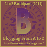a to z letter badge B