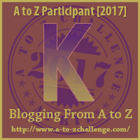a to z letter badge K